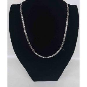 Net Pattern Necklace With Bracelet To Match - Silver discountshub