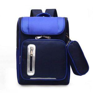 Primary 3-6 Children School Bag Boys Backpacks - Blue discountshub