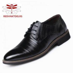 REDVNK Men's Formal Detailed Black Plain Oxford Shoes discountshub