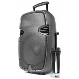 """Rechargeable 8"""" Portable Trolley Public Address System With Bluetooth And Usb discountshub"""