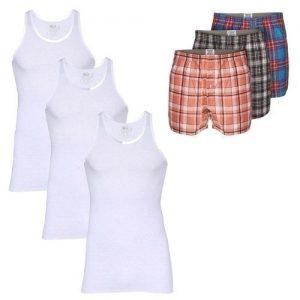 SIX-in-1 Men's Underwear (Singlets & Boxers) discountshub