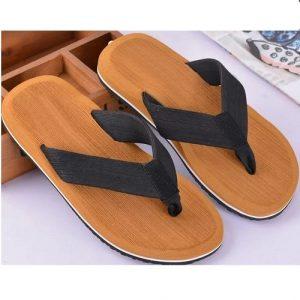 Shoppaholic Athletic Thong Slippers - Brown discountshub