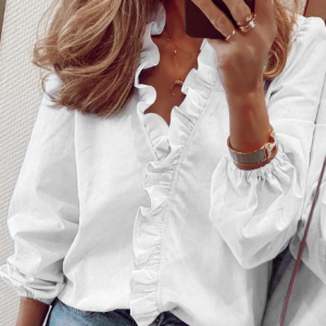 Simplee Pineapple Print Ruffle Blouse Shirts Women Summer Short Sleeve Sexy Slim Blouses Casual Letters Office Tops Plus Size discountshub