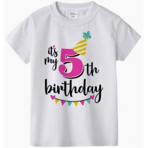 Unisex Birthday T-shirt Imb - No. 5 discountshub
