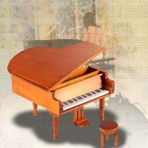 Windup Wooden Piano Musical Box Classical Melody Music Box discountshub