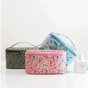 Women Faux Leather Wash Bag Waterproof Printing Travel Cosmetic Bag discountshub