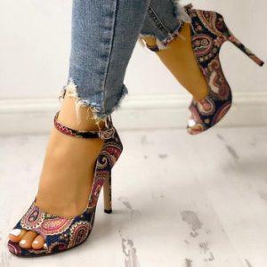 Women High Heels Pumps Sandals Fashion Summer shoes woman 10.5cm and 6.5cm Sexy Ladies Increased Stiletto Super Peep Toe shoes discountshub