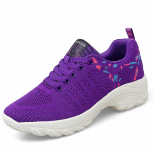 Women Knitted Comfy Breathable Cushioned Sports Casual Sneakers discountshub