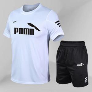 tracksuits Men Shirts Suit Short Sleeve T-Shirt Sets 2Pcs/Set Running T-shirts Running Soccer Play Shorts Sport Shirt Sets discountshub