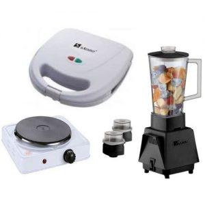 3 In 1 Kitchen Bundle - Toaster + Hot Plate Bundle + Blender discountshub