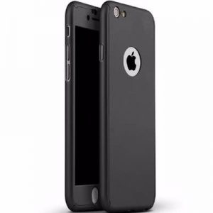 360 Degree Protective Case & Glass For iPhone 6/6s-Black discountshub