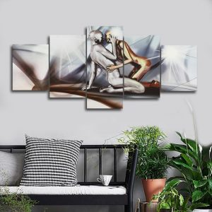 5 Panels Modern Huge Man&Lady Canvas Prints Wall Art Painting Picture Home discountshub