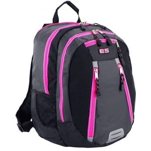 Absolute Sport/laptop Backpack With 5 Compartments Pink And Grey discountshub