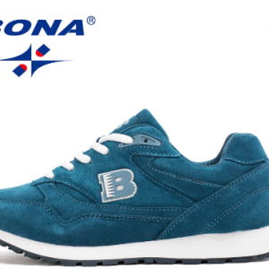 BONA New Popular Style Women Running Shoes Cow Split Breathable Lace Up Sport Shoes Light Soft Outdoor Sneakers Shoes Women discountshub