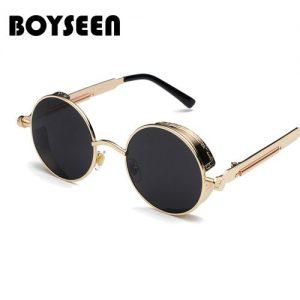 BOYSEEN Retro Punk Sunglasses Round Personality Reflective Glasses Sunglasses Men And Women 886 Glasses discountshub