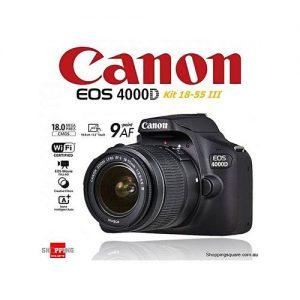 Canon EOS 4000D (EF-S 18-55 III Kit)+Bag Free discountshub