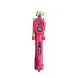 Cellphone Selfie Stick Bluetooth Tripod Rose Red discountshub