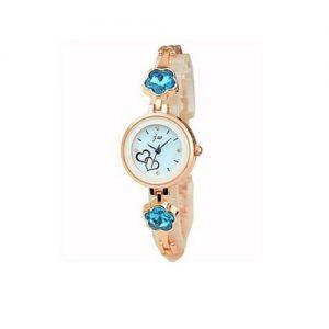 Diamond Studded Wrist Watch - Rose Gold discountshub