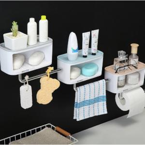 Double Layer Soap Holder Towel Bar Paper Holder Storage Platform Plastic Soap Box Big Container 2019 New Bathroom Soap Dish discountshub