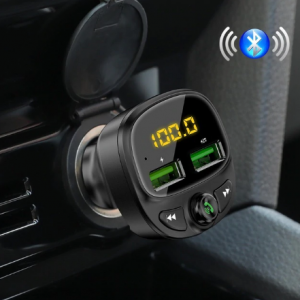 FLOVEME PD3.0 Car USB Charger for Xiaomi USB Car Phone Charger Fast Charge With FM Transmitter Bluetooth Car Kit LED MP3 Player discountshub