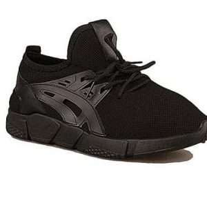 Foamy Lace-up Sneakers - Black discountshub