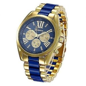 Geneva Steel Unisex Wristwatch - Multicolour discountshub