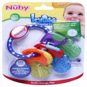 Nuby IcyBite Cooling Baby Teether Keys discountshub