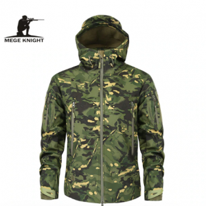Mege Brand Clothing Autumn Men's Military Camouflage Fleece Jacket Army Tactical Clothing Multicam Male Camouflage Windbreakers discountshub