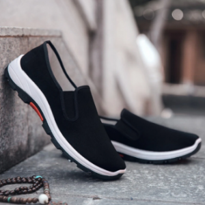 Men Old Peking Fabric Soft Sole Casual Slip On Shoes discountshub