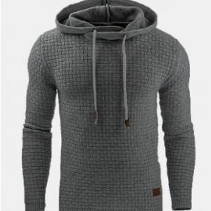 Mens Jacquard Slim Fit Casual Sport Hoodies Active-Wear discountshub