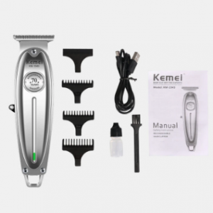 Metal Engraving Electric Hair Clipper Rechargeable Mute High Power Lasting Men Hair Clipper discountshub