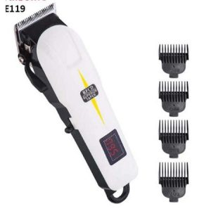 Mry Rechargeable Clipper With Battery Timer White discountshub