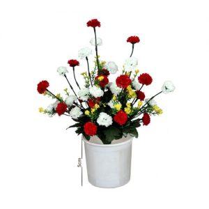 Multi Color Flowers With Plastic Cup Vase discountshub