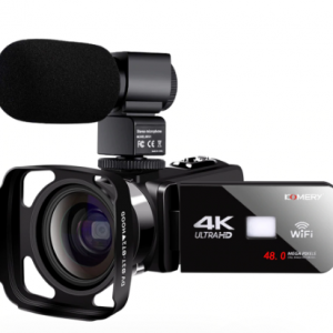 Real 4k WiFi Video Camcorder 48MP Recorder Streaming Vlogging For Youbute Night Vision Wide-angle Lens & Lens Hood discountshub