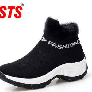 STS BRAND 2019 New Winter Ankle Boots Women Snow Boots Warm Plush Platform Sneakers Breathable Mesh Sneakers Travel Casual Shoes discountshub
