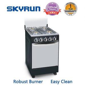 Skyrun 4 Burners(4+0)Gas Cooker - Black discountshub