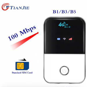 TianJie 4G Lte Pocket Wifi Router Car Mobile Wifi Hotspot Wireless Broadband Mifi Unlocked Modem Router 4G With Sim Card Slot discountshub