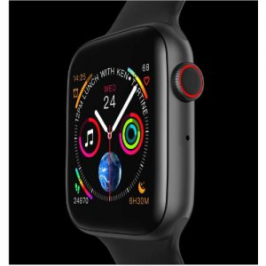 W34 Smart Watch For iPhone And Android - Black discountshub