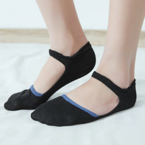 Women Cotton Lace-up Hollow Invisible Ankle Socks Breathable Anti-skid Soft Boat Socsk discountshub