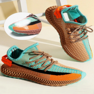 Women Shoelaces Glow Fabric Mesh Breathable Comfy Running Sneakers discountshub