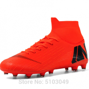 football boots Hot Sale Mens Soccer Cleats High Ankle Football Shoes Long Spikes Soccer Traing Boots For Men Soccer Shoes kids discountshub