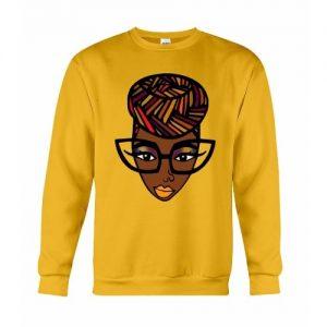 African Nerd Sweatshirt - Yellow discountshub