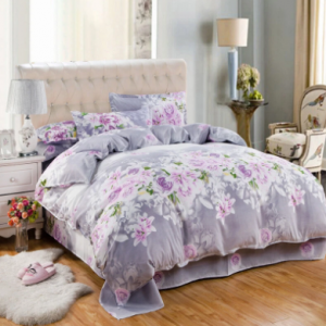 Aloe Cotton Four-piece Set Simple Brushed Quilt Cover Cotton Small Fresh Three-piece Set discountshub