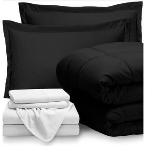 Black Duvet , White Bedspread Set discountshub