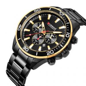 Business Style Quartz Watch Stainless Steel Men Waist Watch Waterproof Watch For Men discountshub