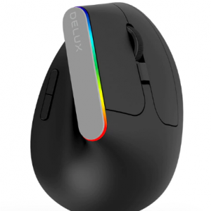 Delux M618C Wireless Mouse Ergonomic Vertical 6 Buttons Gaming Mouse RGB 1600 DPI Optical Mice With For PC Laptop discountshub