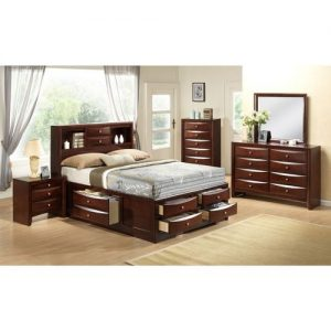 Exclusive Exotic Functional Bed Set( 6by6/6by7) + Chest Drawer + Side Drawer+Mirror Set discountshub