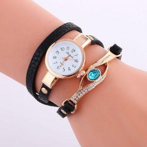 Fulaida Wrist Watches Ladies Luxury Bracelet Watch -black discountshub