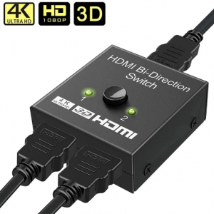HDMI Splitter 4K 1080P Switch Bi-Direction 1x2/2x1 Adapter HDMI Switcher 2 in 1 out for PS4/3 TV Box Nitendo Switch discountshub