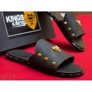 Kingskartel Panther Gold Slides discountshub